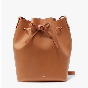 Mansur Gavriel Medium Bucket Bag in Cammello NWT